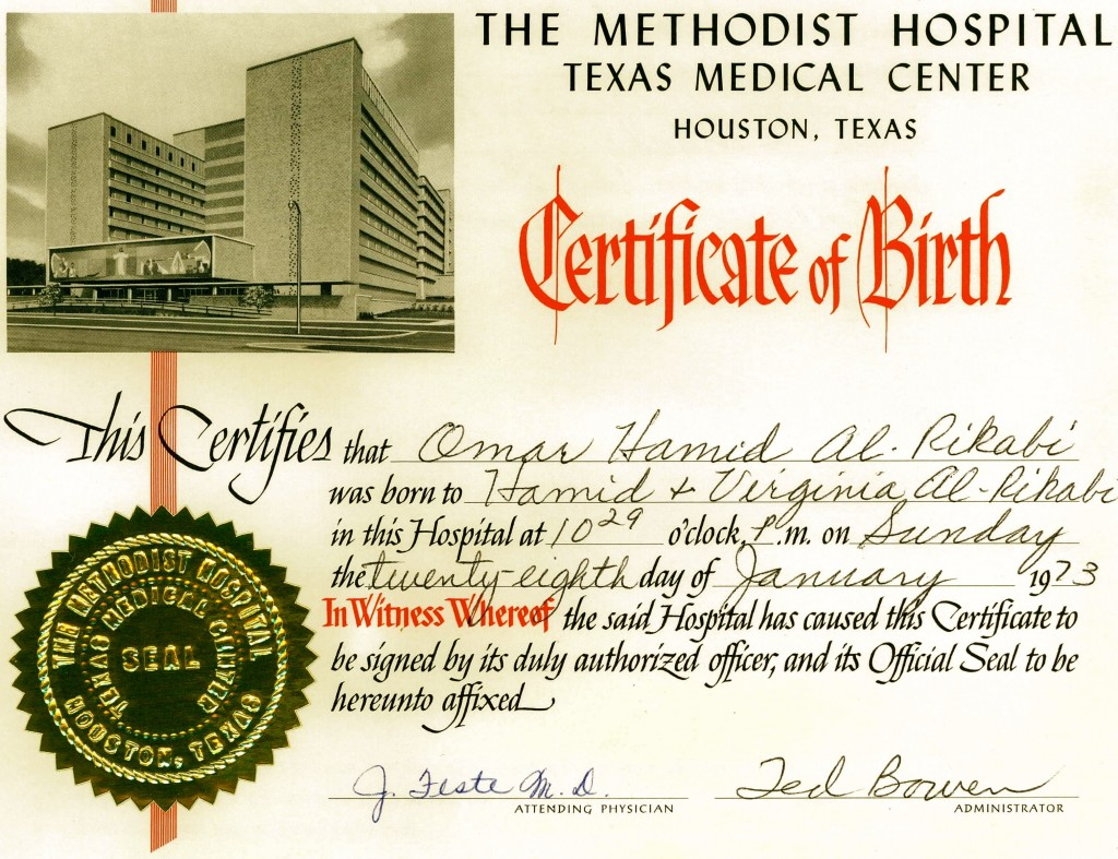 methodist birth certificate